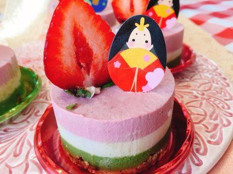 ❤️ロー甘酒ケーキ(お雛様ケーキ)を作りましょう💕